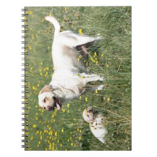 Labrador retriever libro de apuntes con espiral
