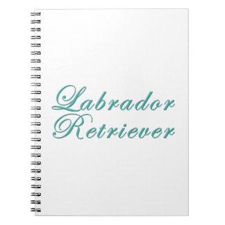 Labrador retriever libros de apuntes con espiral