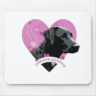 Labrador Retriever Love Heart Mouse Pad