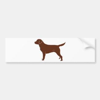 Labrador retriever marrón etiqueta de parachoque