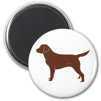 Labrador retriever marrón imán para frigorífico