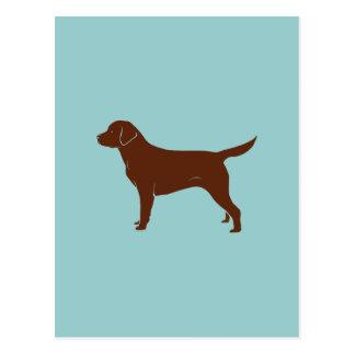 Labrador retriever marrón tarjetas postales