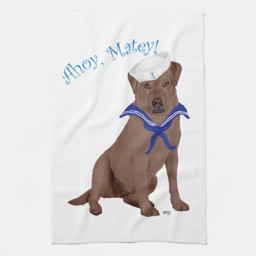 Labrador retriever marrón toallas de mano