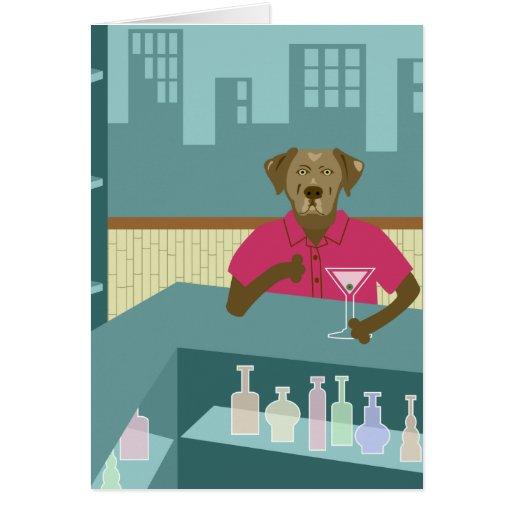 Labrador retriever Martini del chocolate Felicitación