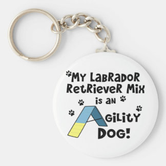 Labrador Retriever Mix Agility Dog Keychain