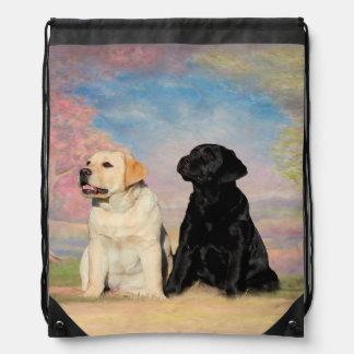 Labrador retriever mochila