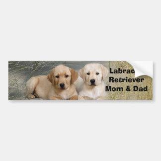 Labrador Retriever Mom & Dad Bumper Sticker