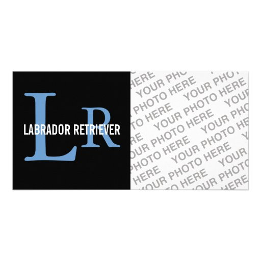 Labrador Retriever Monogram Photo Cards