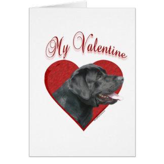 Labrador Retriever My Valentine Card