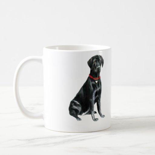 Labrador retriever - negro 1 taza clásica