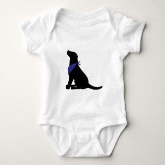 Labrador retriever negro body para bebé