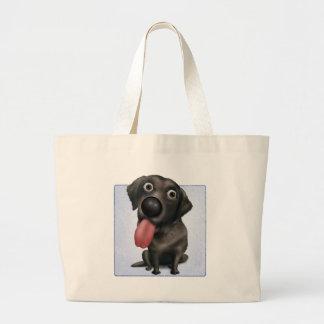 Labrador retriever (negro) bolsa tela grande