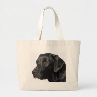 Labrador retriever negro bolsa tela grande