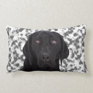 Labrador retriever negro almohadas