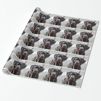 Labrador retriever negro del negro del mascota del papel de regalo