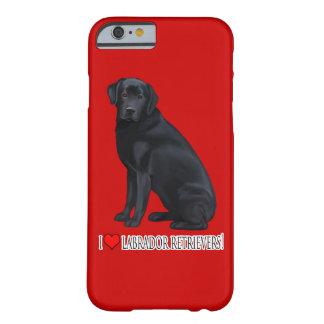 Labrador retriever negro funda para iPhone 6 barely there