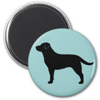 Labrador retriever (negro) imán de frigorifico