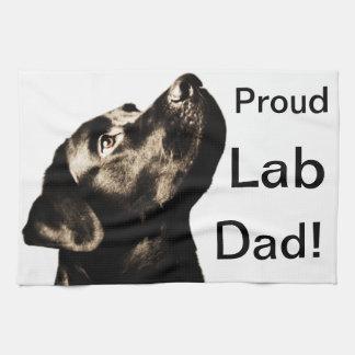 Labrador retriever negro impresionante toalla