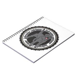 Labrador retriever negro libro de apuntes con espiral