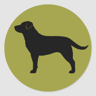 Labrador retriever (negro) pegatina redonda