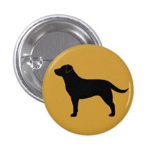 Labrador retriever (negro) pin redondo de 1 pulgada