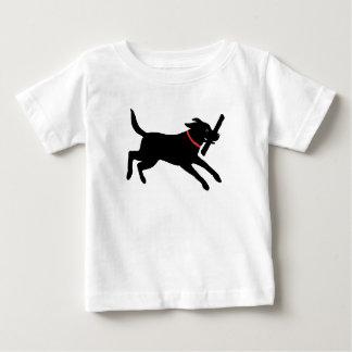 Labrador retriever (negro) playera de bebé