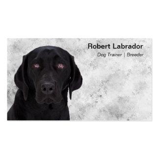 Labrador retriever negro tarjetas de visita