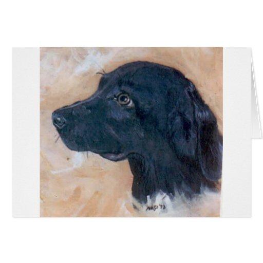 Labrador retriever negro tarjeta de felicitación