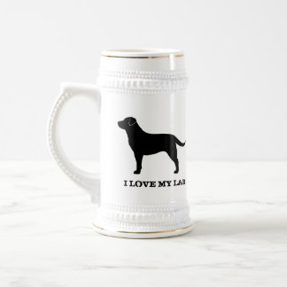 Labrador retriever (negro) taza de café