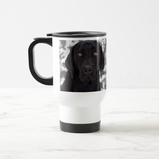 Labrador retriever negro taza térmica