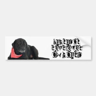 Labrador Retriever on Board Bumper Sticker