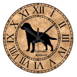 Labrador Retriever on Copper Large Clock