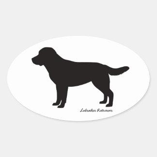 Labrador Retriever Oval Stickers
