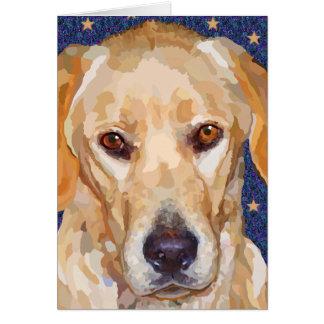 Labrador Retriever Painting Greeting Card