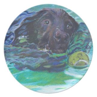 Labrador retriever Palte del chocolate Platos Para Fiestas