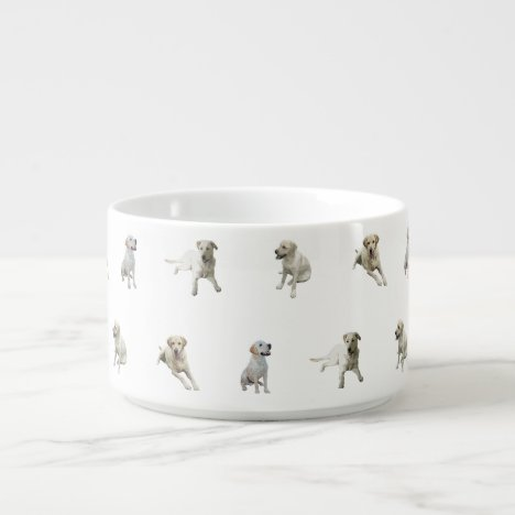 Labrador Retriever Pattern (White) Bowl