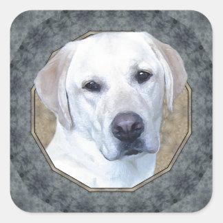 Labrador retriever pegatina cuadrada