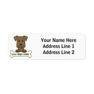 Labrador retriever personalizado etiquetas de remite