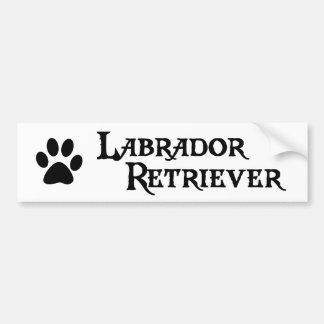 Labrador Retriever (pirate style w/ pawprint) Bumper Sticker