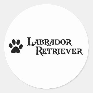 Labrador Retriever (pirate style w/ pawprint) Classic Round Sticker