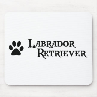 Labrador Retriever (pirate style w/ pawprint) Mouse Pad