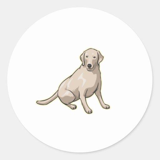 Labrador Retriever,Png Classic Round Sticker
