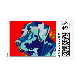 Labrador Retriever Pop Art Postage Stamp