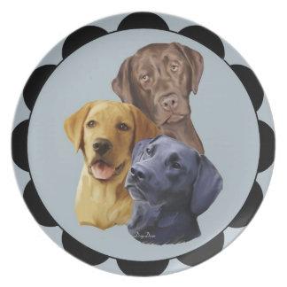 Labrador Retriever Portraits Plate