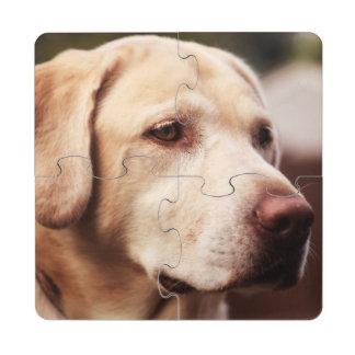 Labrador retriever posavasos de puzzle