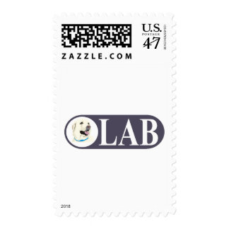 Labrador Retriever Postage Stamp