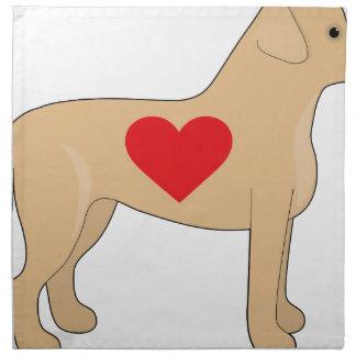 Labrador Retriever Printed Napkin