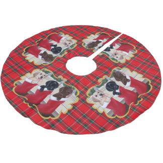 Labrador Retriever Puppies Christmas Painting Brushed Polyester Tree Skirt