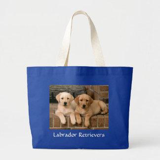 Labrador Retriever Puppies Jumbo Canvs Tote Bag