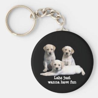 Labrador Retriever Puppies Keychain